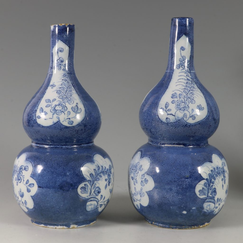 Very Rare Pair of English Delft Double Gourd Vases Probably London C1760/5 3
