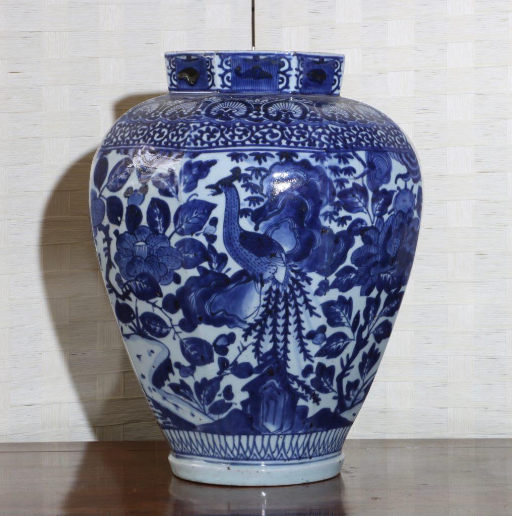 Pair of Arita Blue and White Vases L17thC 8