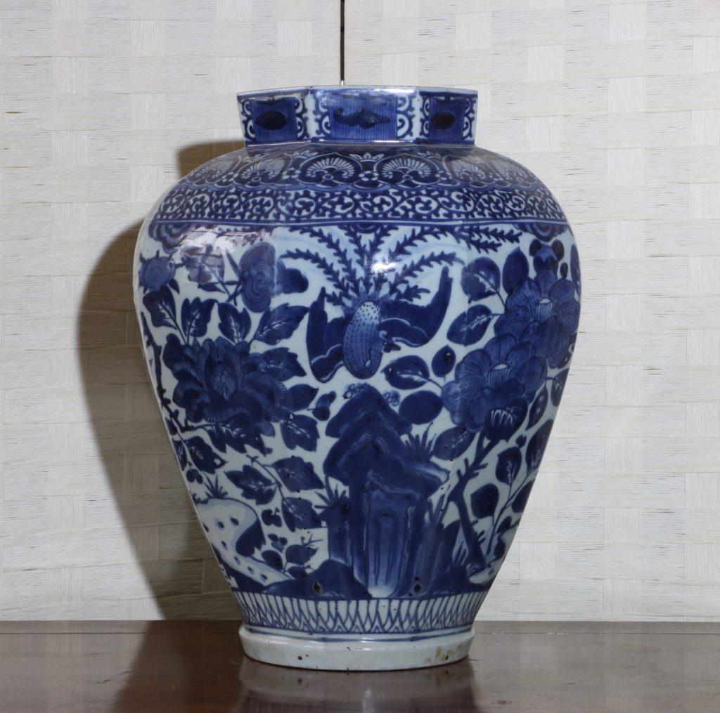Pair of Arita Blue and White Vases L17thC 9