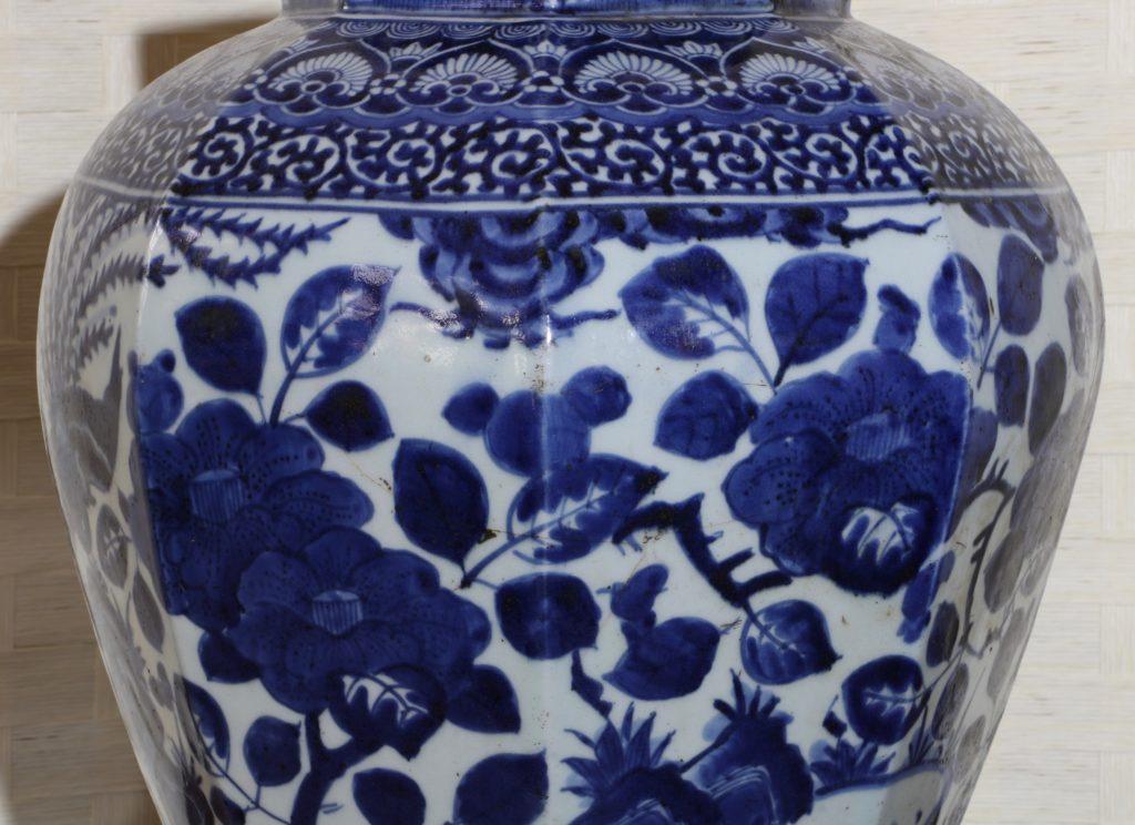 Pair of Arita Blue and White Vases L17thC 13