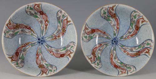 Pair of Arita Imari Bowls 18thC