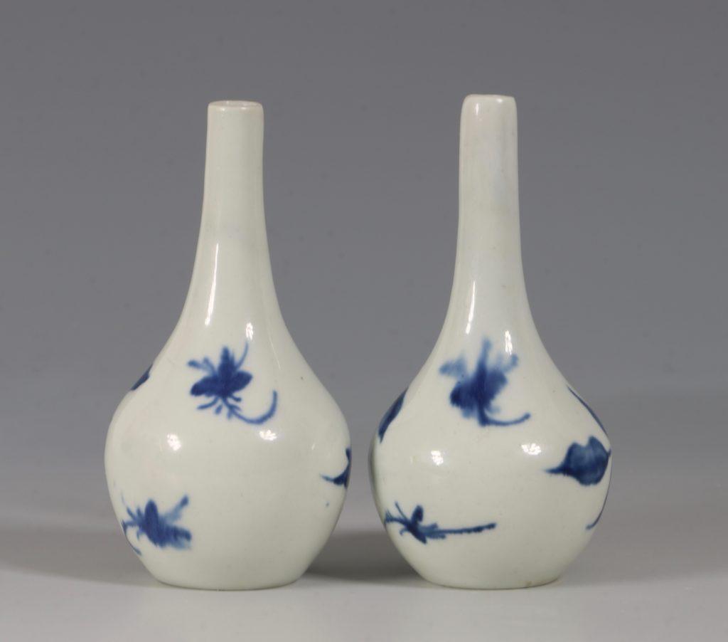 A Rare Pair of Longton Hall Miniature Vases C1756 2