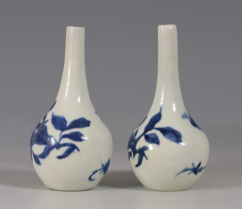 A Rare Pair of Longton Hall Miniature Vases C1756 3