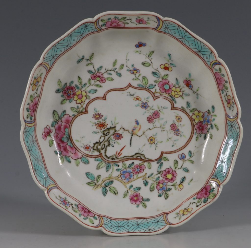 Extremely Rare Pair of Chelsea Dishes Raised Anchor C1752-53 1