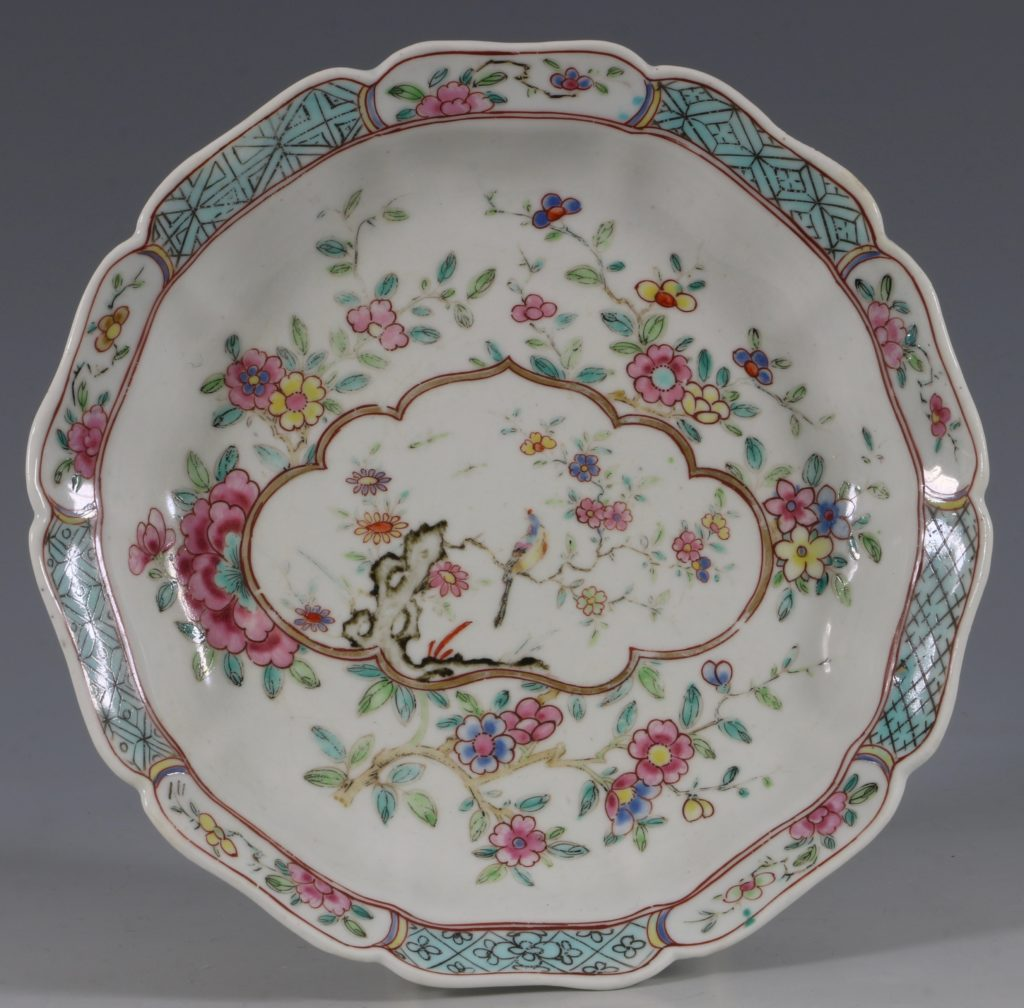 Extremely Rare Pair of Chelsea Dishes Raised Anchor C1752-53 3