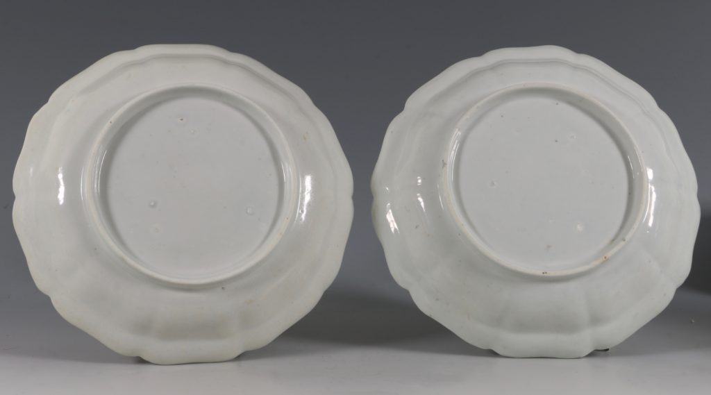 Extremely Rare Pair of Chelsea Dishes Raised Anchor C1752-53 5
