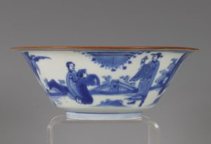 A Transitional Blue and White Bowl Mid 17thC