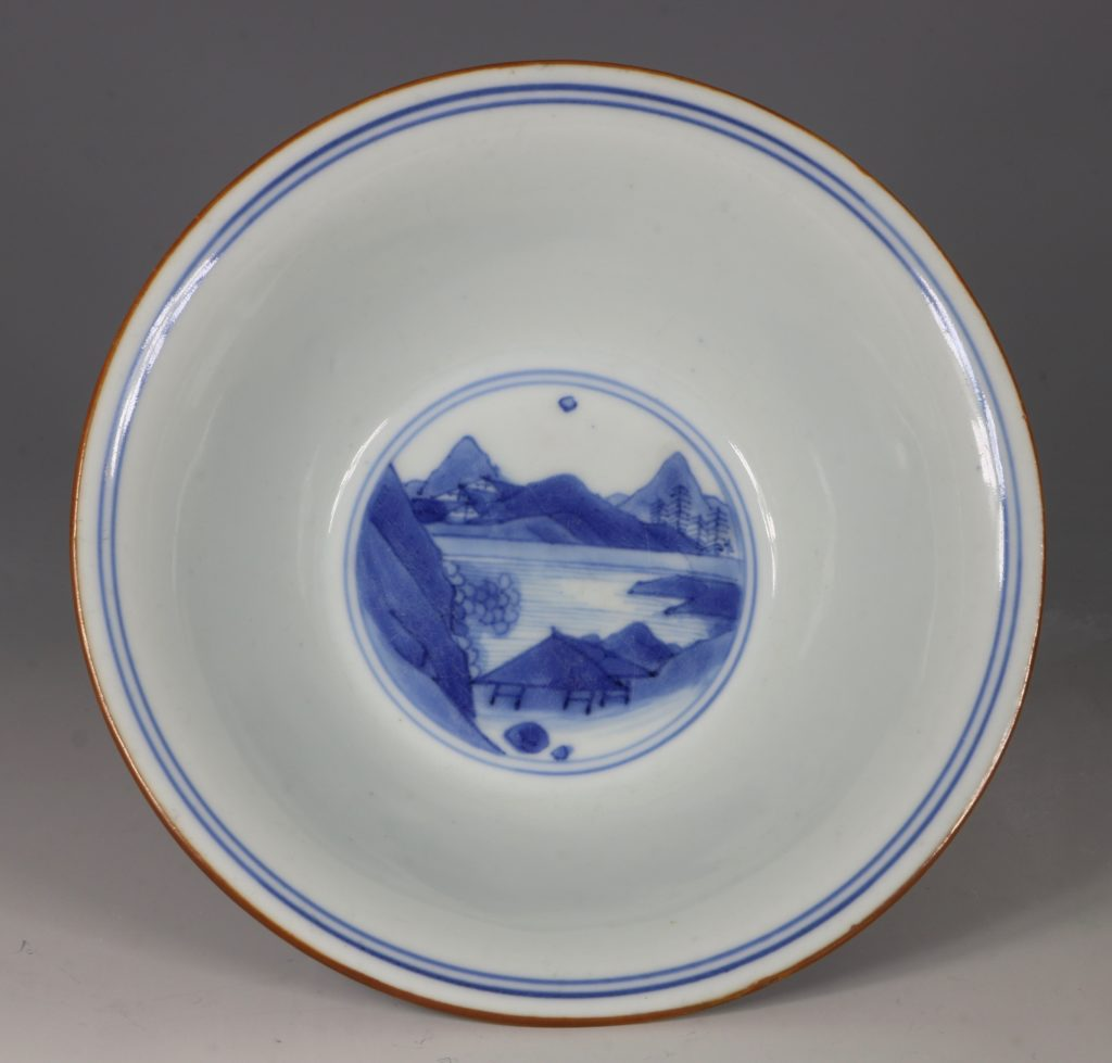 A Transitional Blue and White Bowl Mid 17thC 5