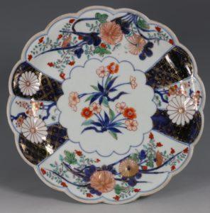 Japanese Arita Polychrome Dish E18thC