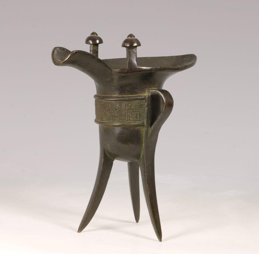 Chinese Bronze Jue Vessel 17/18thC 2