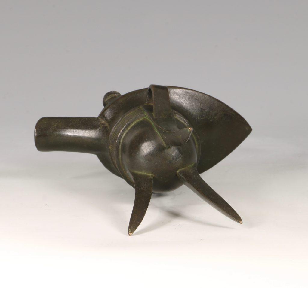 Chinese Bronze Jue Vessel 17/18thC 4