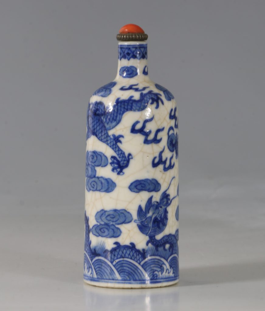 A Blue and White Soft-Paste Snuff Bottle 19thC 3