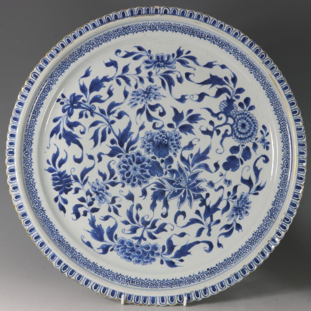 A Large Blue and White Dish Kangxi C1700