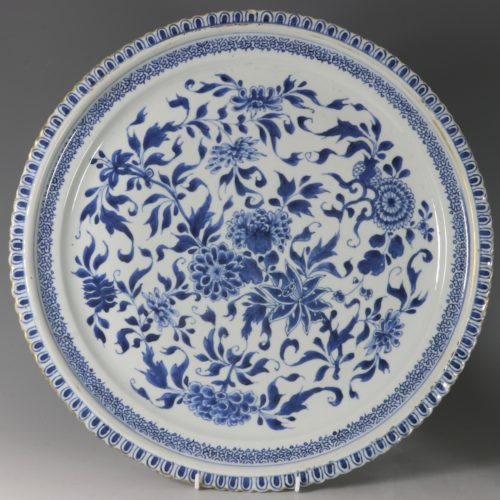 A Large Blue and White Dish Kangxi C1700