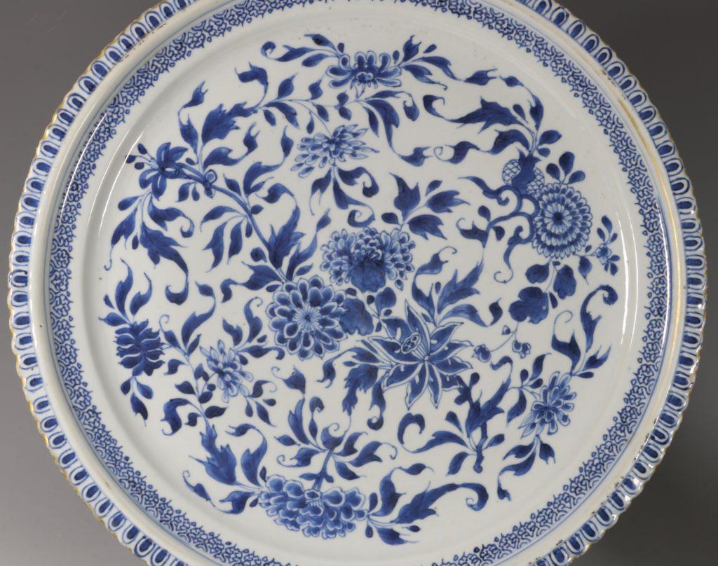 A Large Blue and White Dish Kangxi C1700 1