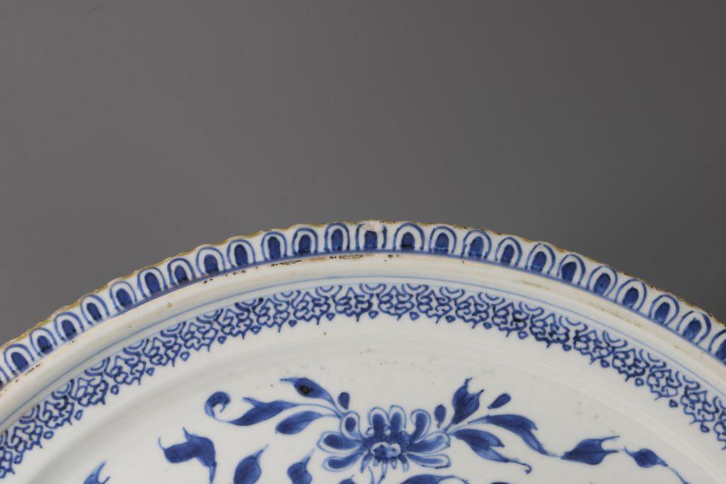 A Large Blue and White Dish Kangxi C1700 2