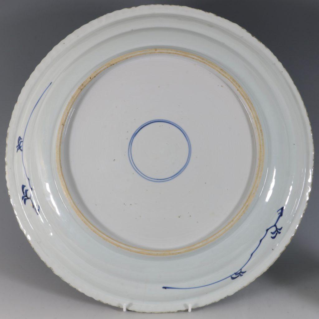 A Large Blue and White Dish Kangxi C1700 3