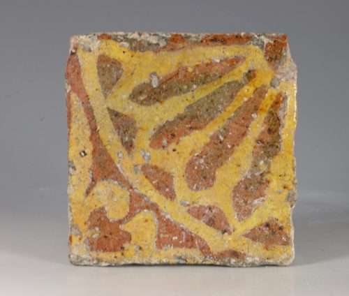 Medieval Encaustic Floor Tile 13thC