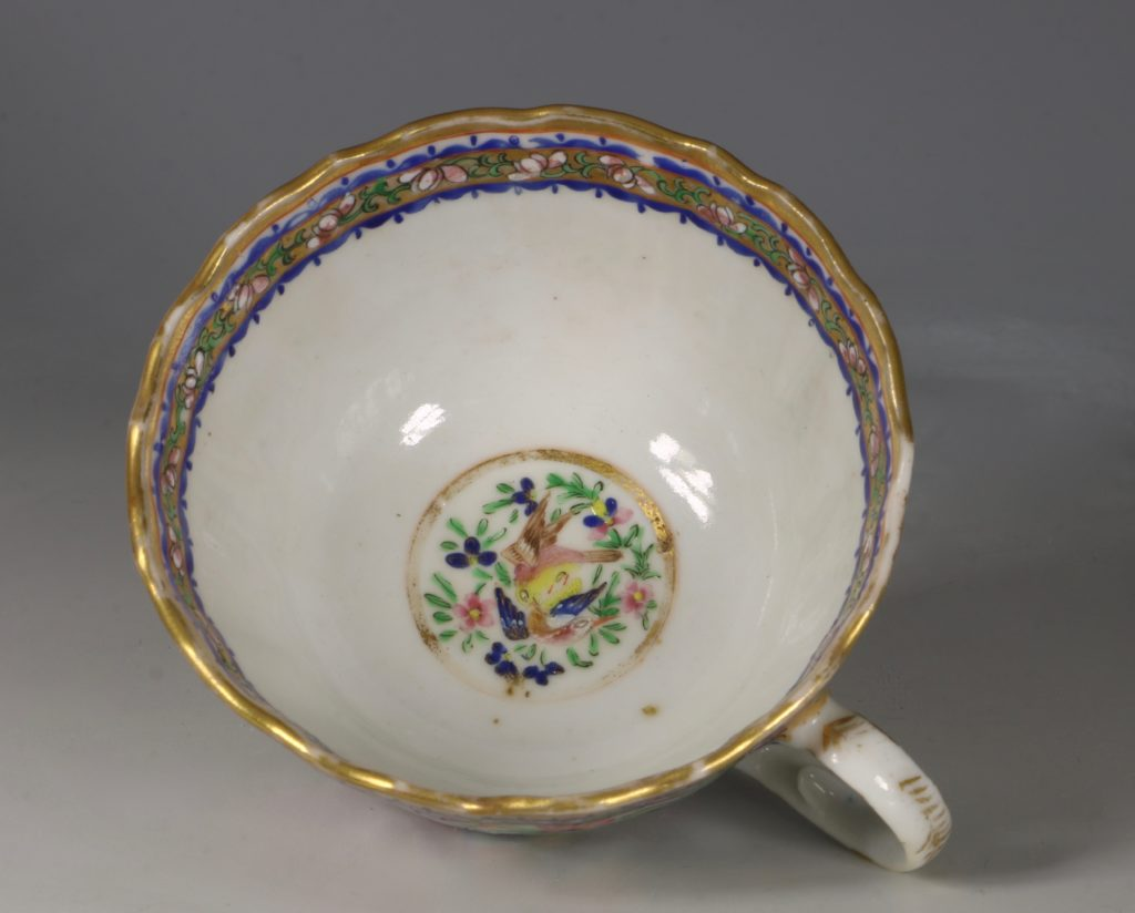 A Chinese Islamic Market Famille Rose Cup and Saucer 19thC 5