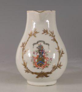 A Chinese Armorial Cream Jug Qianlong C1750