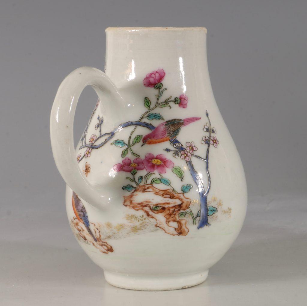 A Chinese Armorial Cream Jug Qianlong C1750 2