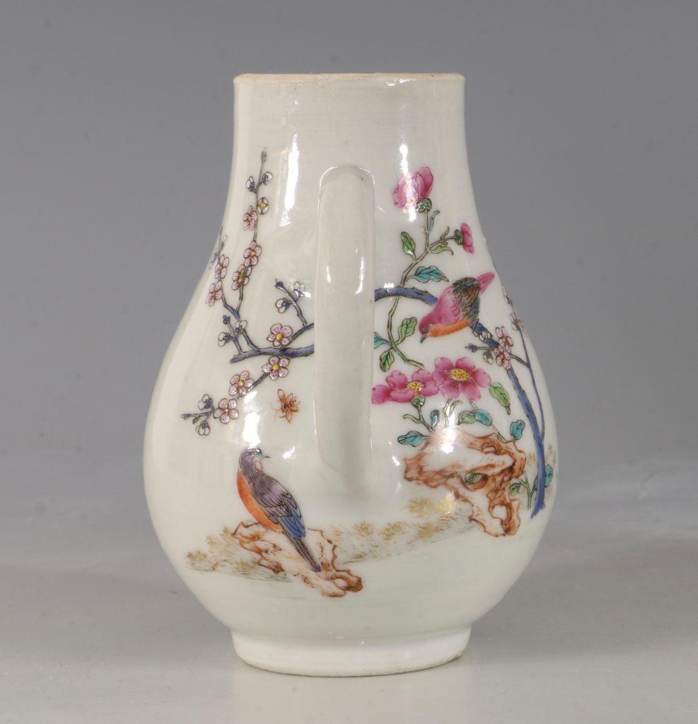 A Chinese Armorial Cream Jug Qianlong C1750 3