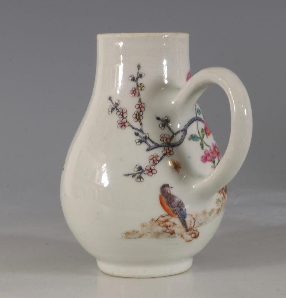 A Chinese Armorial Cream Jug Qianlong C1750 4