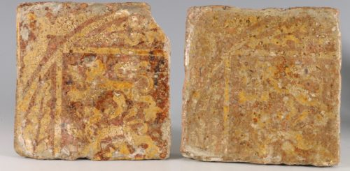 A Pair of Medieval Encaustic Tiles 13/15thC