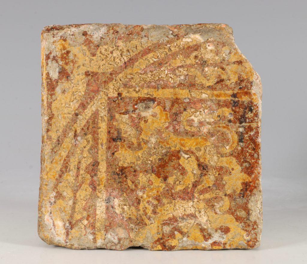 A Pair of Medieval Encaustic Tiles 13/15thC 1
