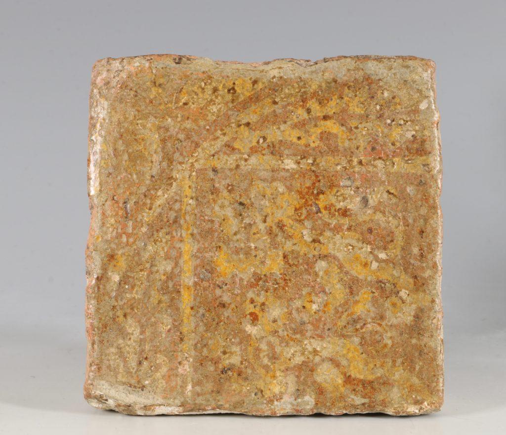 A Pair of Medieval Encaustic Tiles 13/15thC 2