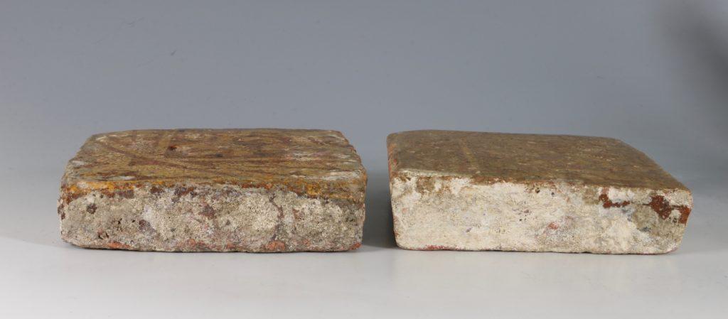 A Pair of Medieval Encaustic Tiles 13/15thC 4