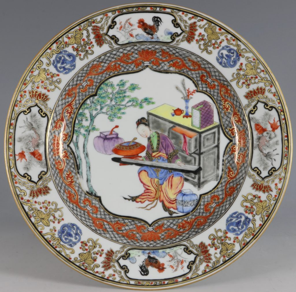 A Fine Pair of Famille Rose Plates C1735/45 2