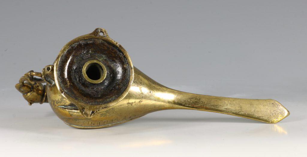 A Bird Form Brass Hanging Lamp Deccan S India 16/17thC 6