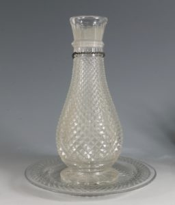 A Cut Glass Hookah Base and Stand 19thC