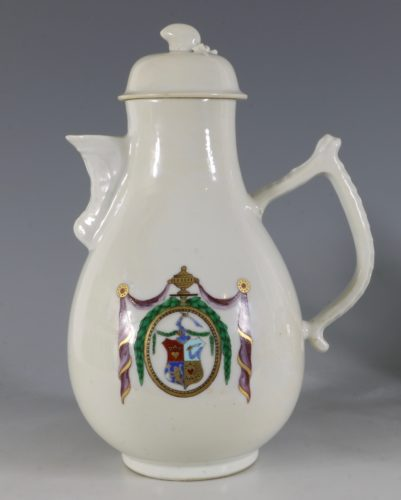 Chinese Export Dutch Market Armorial Coffee Pot C1786