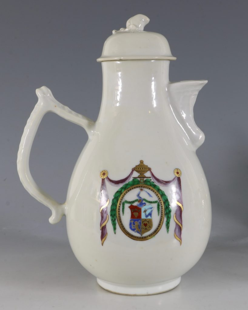 Chinese Export Dutch Market Armorial Coffee Pot C1786 1
