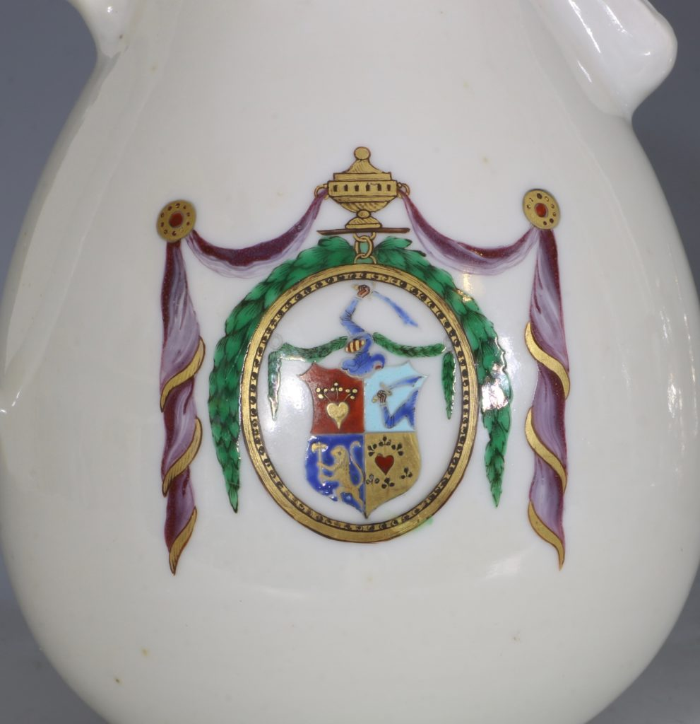 Chinese Export Dutch Market Armorial Coffee Pot C1786 2