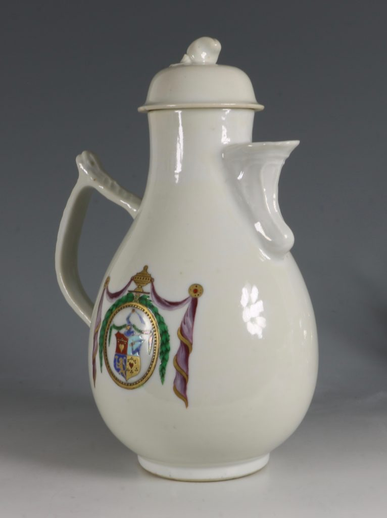 Chinese Export Dutch Market Armorial Coffee Pot C1786 3