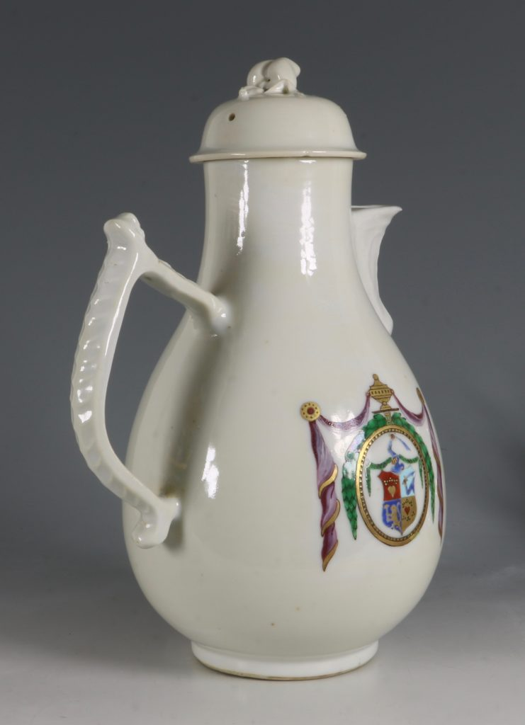 Chinese Export Dutch Market Armorial Coffee Pot C1786 4