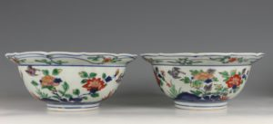 A Pair of Japanese Arita Polychrome Bowls C1690/1730