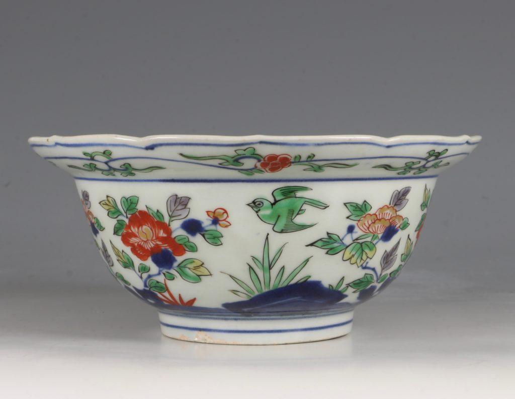 A Pair of Japanese Arita Polychrome Bowls C1690/1730 6