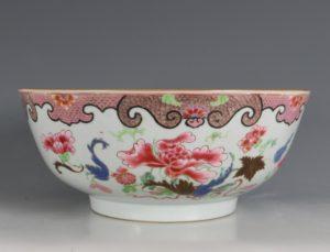 A Famille Rose Punchbowl Qianlong C1750