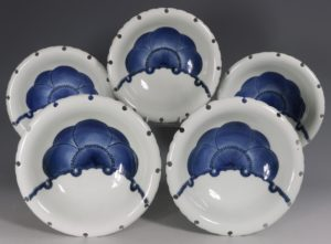 A Set of Five Japanese Hirado Bowls 19thC