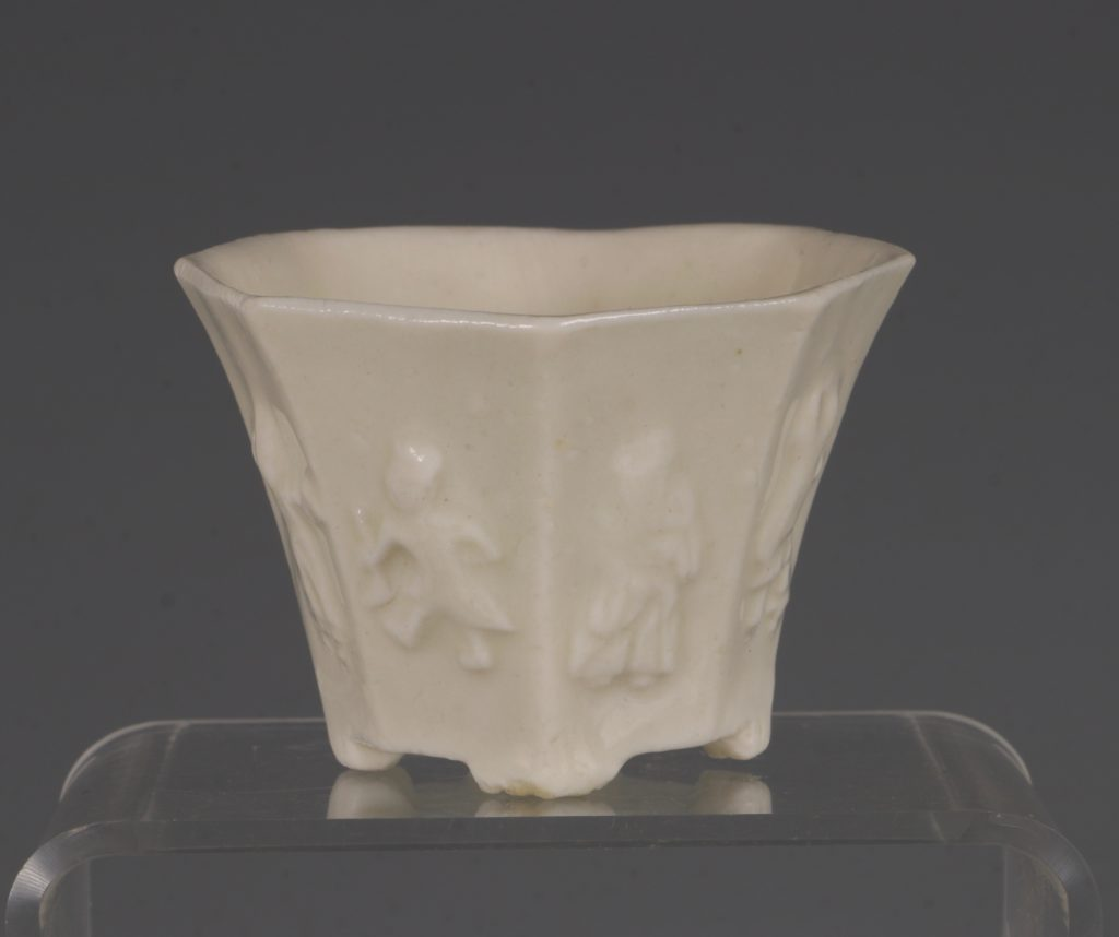 A Chinese Blanc de Chine Octagonal Cup Kangxi 17thC 2