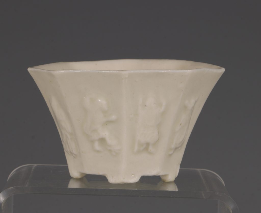 A Chinese Blanc de Chine Octagonal Cup Kangxi 17thC 3