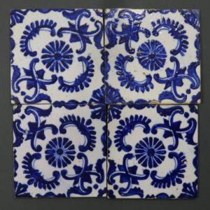A Set of Four Kutahya Tiles 18thC