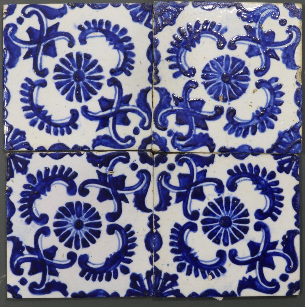 A Set of Four Kutahya Tiles 18thC 1
