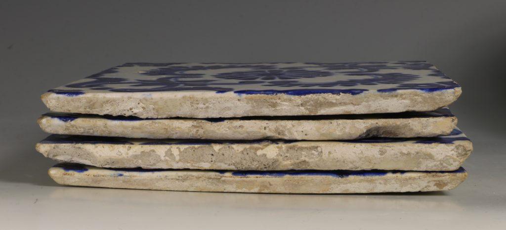 A Set of Four Kutahya Tiles 18thC 6