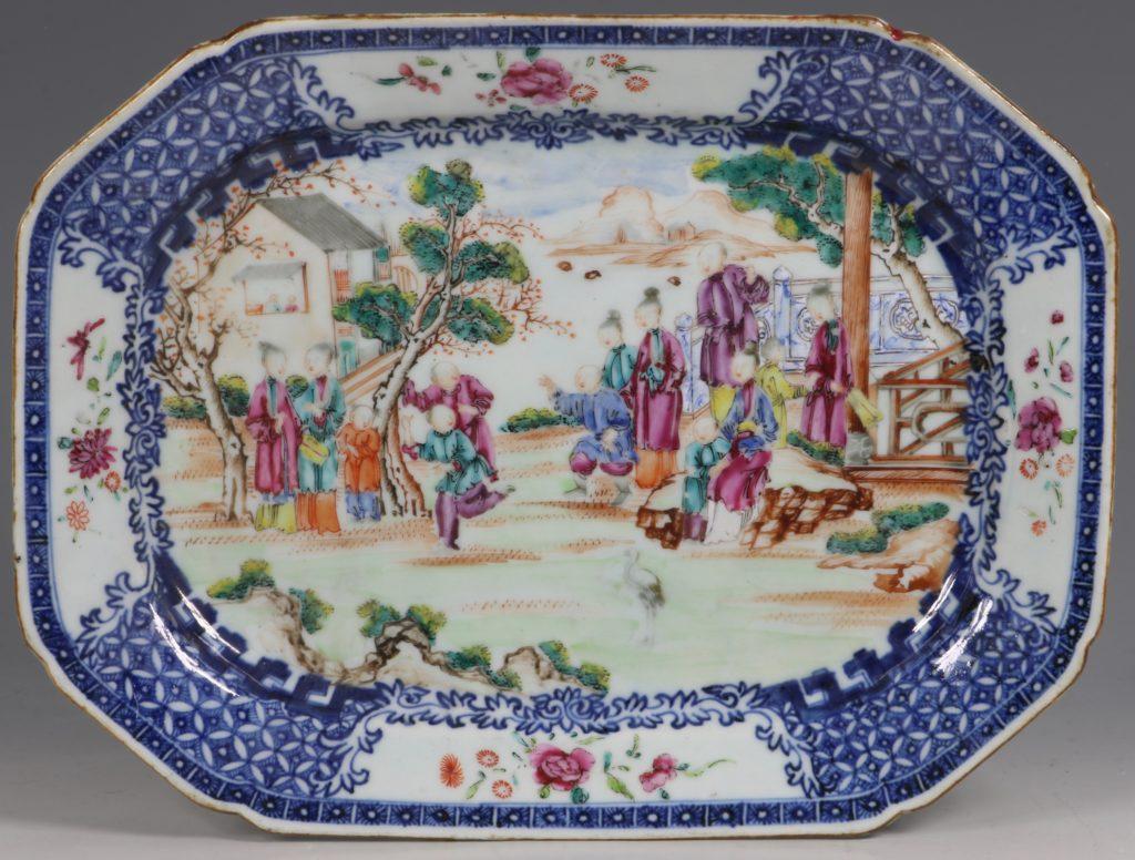 Chinese Mandarin Palette Meat Plate Qianlong C1760/70