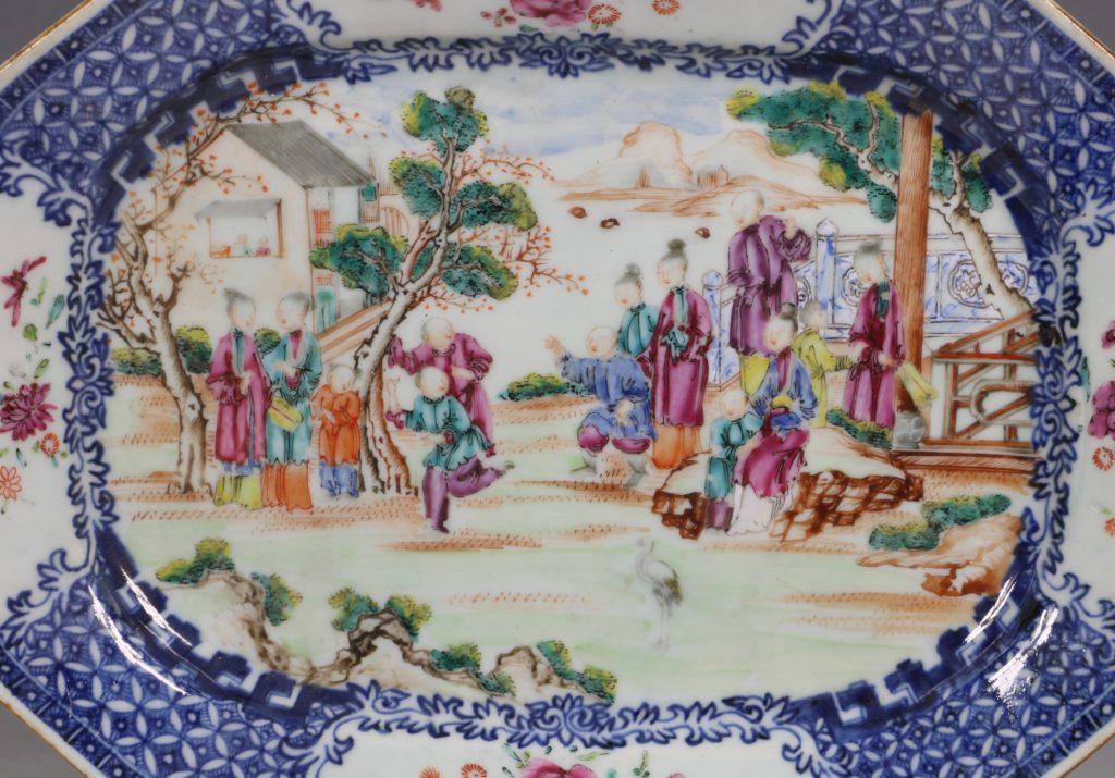 Chinese Mandarin Palette Meat Plate Qianlong C1760/70 1